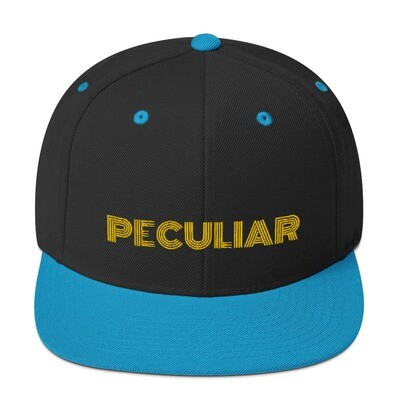 Peculiar Gold Snapback Hat