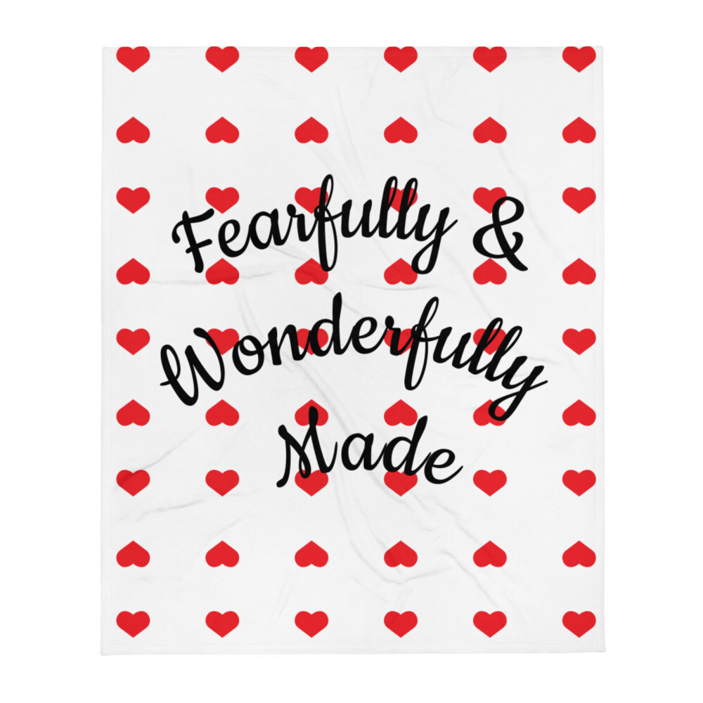 Fearfully and Wonderfully Made Throw Blanket