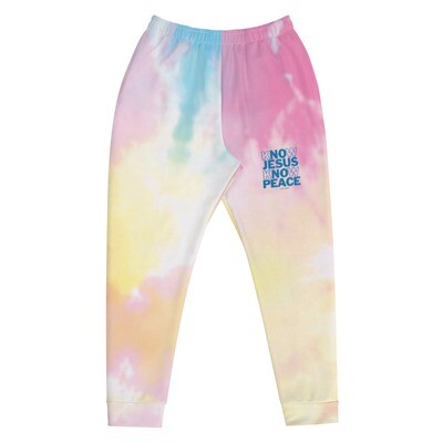 Know Jesus Know Peace Tie Dye Men's Joggers