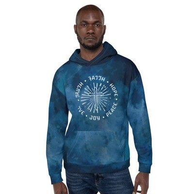 Truth Faith Hope Tie Dye Unisex Hoodie