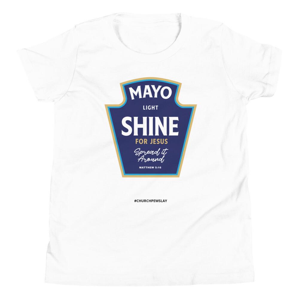 Mayo Light Shine Youth Short Sleeve T-Shirt