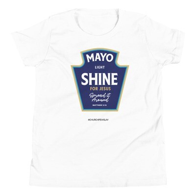 Mayo Light Shine for Jesus Youth Short Sleeve T-Shirt