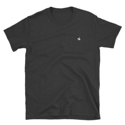 Black T-Shirt / White Logo