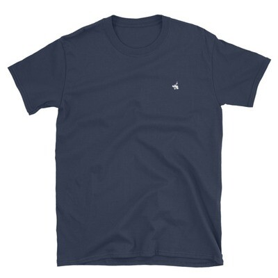 Navy T-Shirt / White Logo