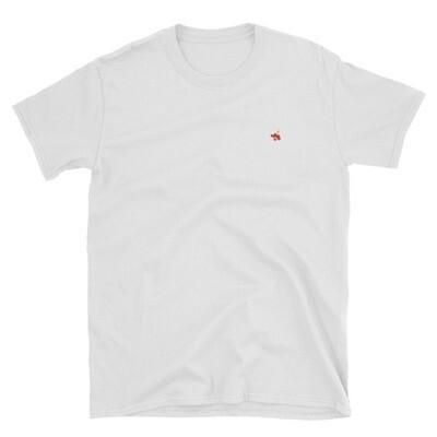 White T-Shirt / Red and Yellow Logo