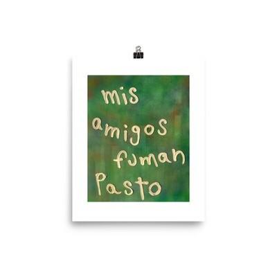 Mis amigos fuman pasto (Print) by Saki Sacarello