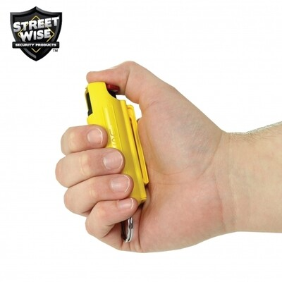 Lab Certified Streetwise 18 Pepper Spray, 1/2 oz. Hard Case YELLOW