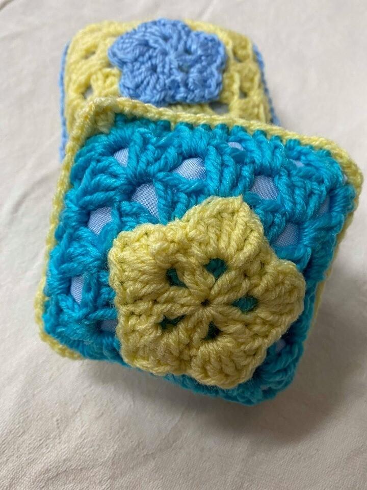 Teal and Lemon Pin Cushion