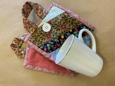 Pink Patchwork 'Mug to go' Bag