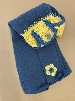 Steel Blue Double Tea Towel