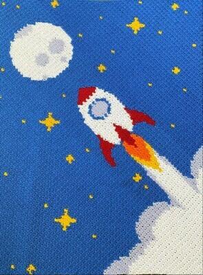 Rocket Ship Blanket