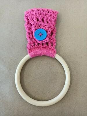 Bright Pink Towel Hanger
