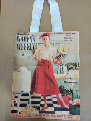 Vintage Print Shopping Bag