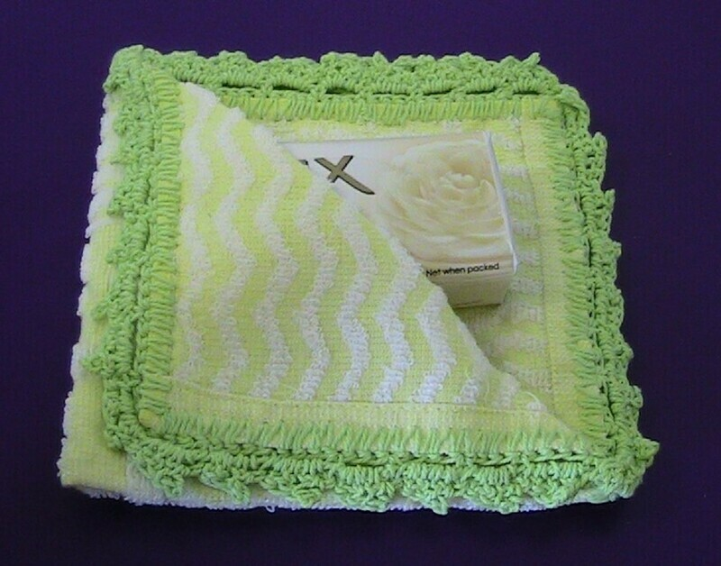 Lime green & yellow washer and soap set