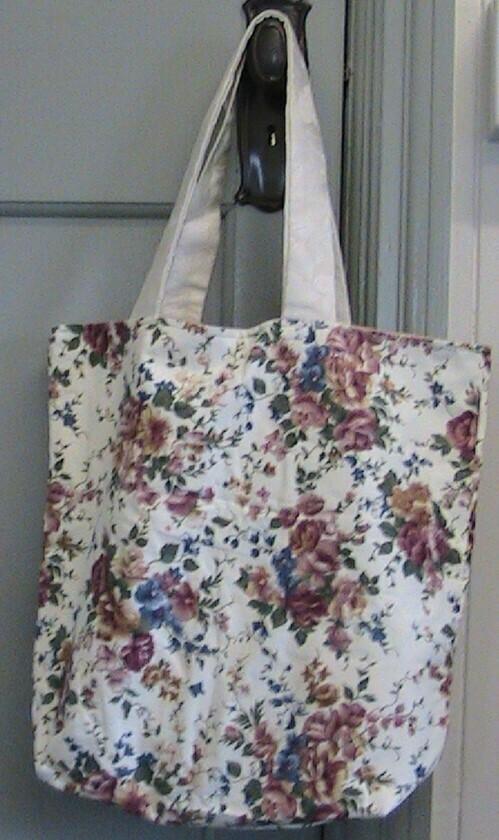 Floral cloth carry bag