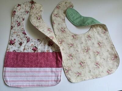 Floral Bib - Floral Bib, 2 sided, velcro fastening, material (ref # 37)