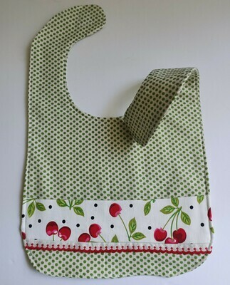 Cherries Bib, 2 sided, velcro fastening, material (ref # 41)