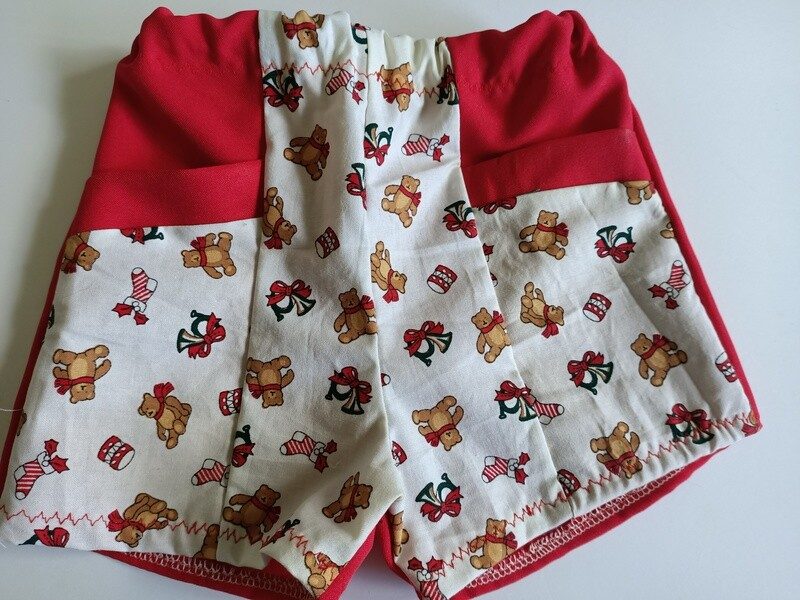 Red Teddy Shorts, size 2 years