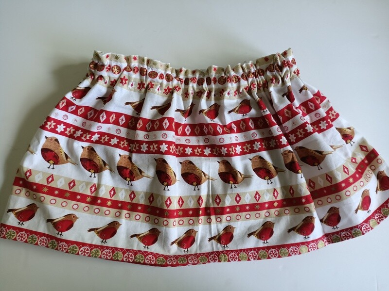 Girl's Red Robin Skirt - Size 4 years