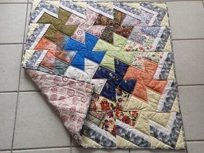 Multicoloured Patchwork Rug  (ref # 199)