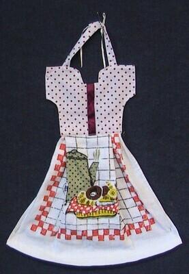 Hanging tea towel - single layer - dress style (ref # 230)