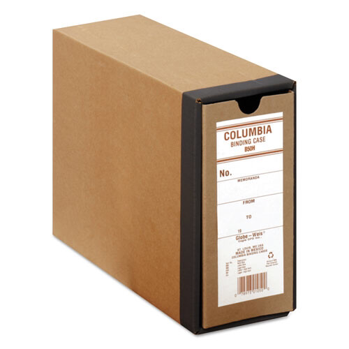 "Globe-Weis® COLUMBIA Recycled Binding Cases, 2 Rings, 3.13"" Capacity, 11 x 8.5, Kraft"