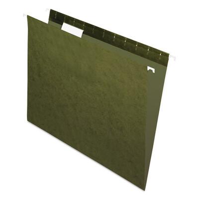 Pendaflex / Hanging File Folders, Standard Green,  Letter Size, 1/5-Cut Tab, Standard Green, Pk-25