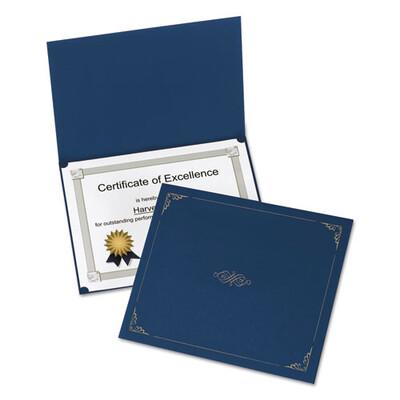 Oxford™ Certificate Holder, 11 1/4 x 8 3/4, Dark Blue, 5/Pack
