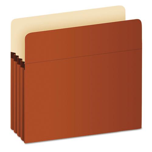 """Pendaflex® Pocket File, 3.5"""" Expansion, Letter Size, Red Fiber"""