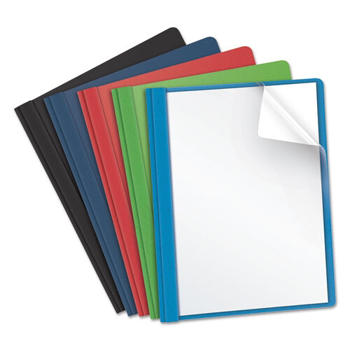 Oxford / Report Cover, Clear Front , 3 Fasteners, Letter, Assorted Colors, 25/Box
