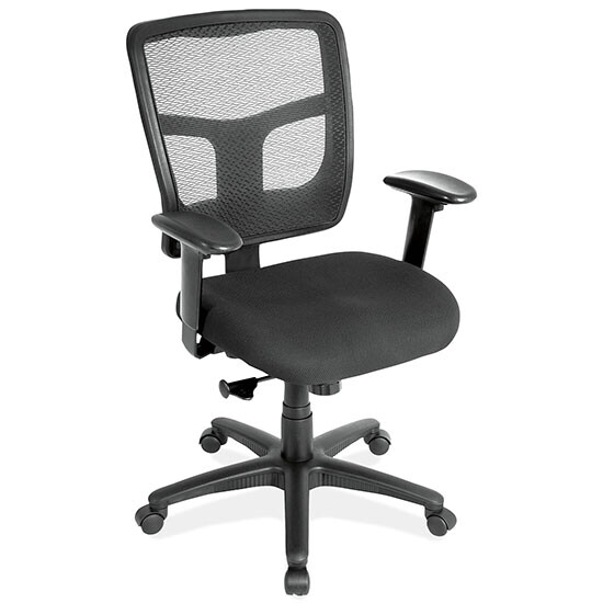 Mesh Seating, Task Chair with Arms and Black Frame