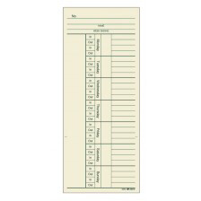 Adams/ Time Card, Weekly, 2-sided, with overtime, 200 CD/PK