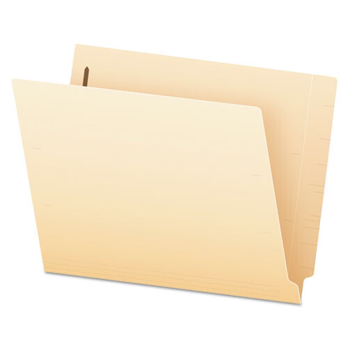 Pendaflex® Manila End Tab Expansion Folders with One Fastener, 11-pt., 2-Ply Straight Tabs, Letter Size, 50/Box