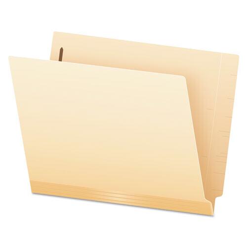 Pendaflex® Manila Laminated End Tab Folders with One Fastener, Straight Tab, Letter Size, 11 pt. Manila, 50/Box