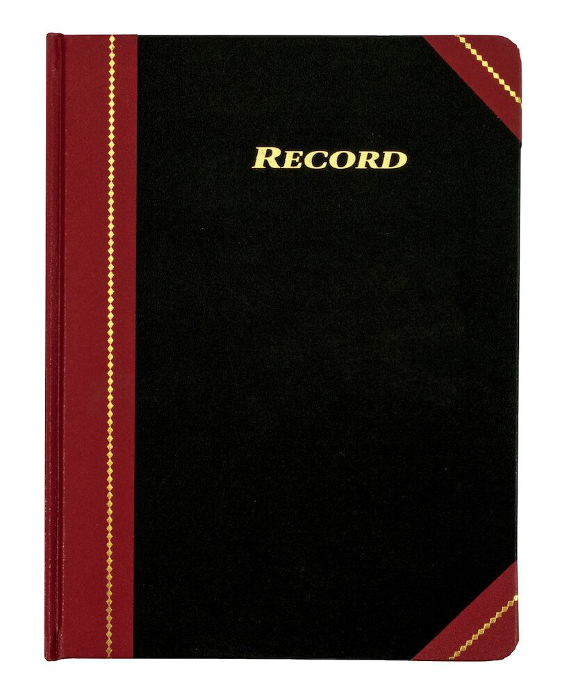 "Adams / Record Book, 8-1/4"" x 10-3/4"", 300 Pages"