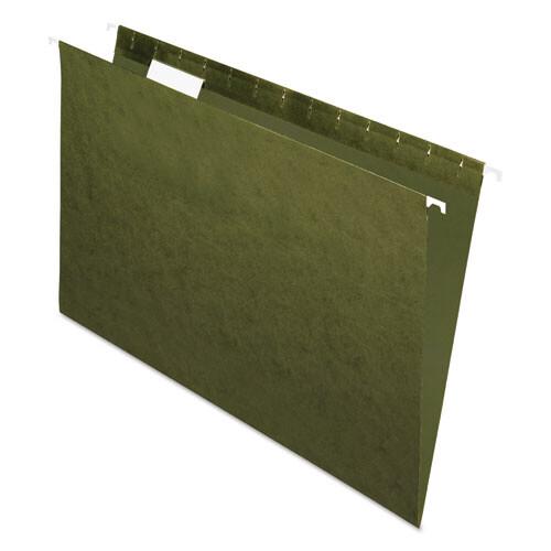 Pendaflex / Hanging File Folders, Standard Green, Legal Size, 1/5-Cut Tab, Standard Green, Pk-25