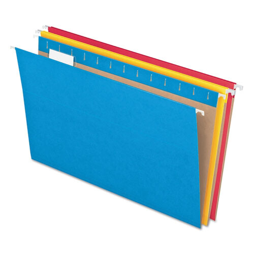 Pendaflex / Hanging File Folders, Assorted Colors, Letter Size, 1/5-Cut Tab, Pk-25