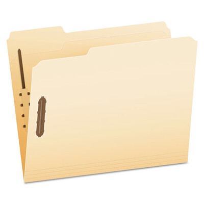 Pendaflex® Manila Folders with Two Fasteners, 1/3-Cut Tabs, Letter Size, 50/Box