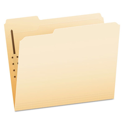 Pendaflex® Manila Folders with One Fastener, 1/3-Cut Tabs, Letter Size, 50/Box