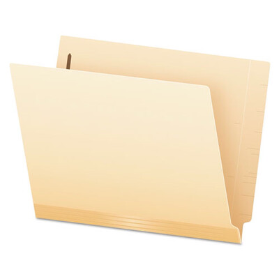 Pendaflex® Manila Laminated End Tab Folders with Two Fasteners, Straight Tab, Letter Size, 11 pt. Manila, 50/Box