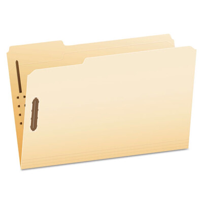 Pendaflex® Manila Folders with Two Fasteners, 1/3-Cut Tabs, Legal Size, 50/Box