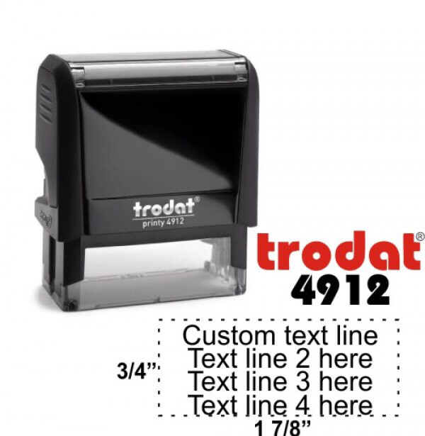 "Trodat Printy 4912 Personalized Individual Custom Self Inking Stamp (3/4"" x 1-7/8"")"