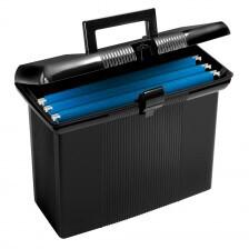 """Pendaflex® Portable File Box, Black, 11"""" H x 14"""" W x 6-1/2"""" D"""