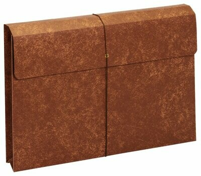Globe-Weis / Pendaflex Letha-Tone File Envelope with Elastic Closure, 2-Inch Expansion, Legal Size, Brown