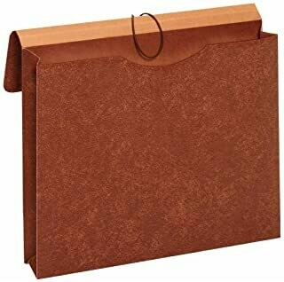 Globe-Weis / Pendaflex Letha-Tone File Envelopes with Elastic Closures, 2-Inch Expansion, Letter Size, Brown