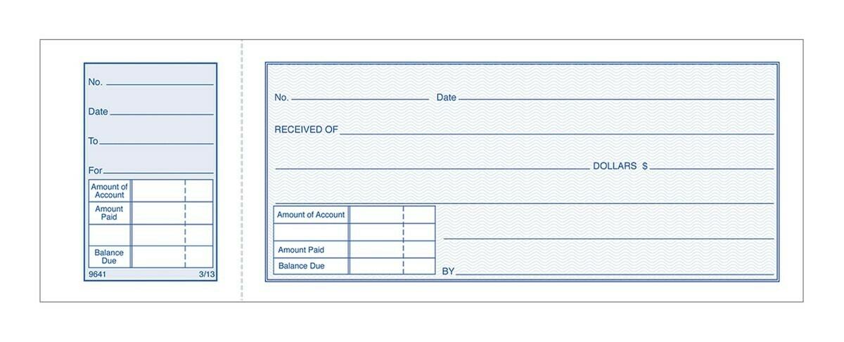 Adams / Money Receipt Book, 1-Part With Tear-Off Stub, 50/BK