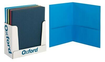 Oxford / 2-Pocket Portfolio, Leatherette, Assorted Colors