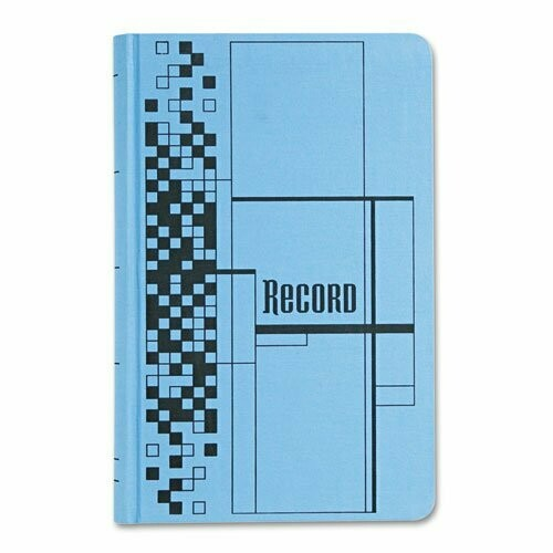 Adams/ Record Ledger Book, 7.63 x 12.13 Inches, Blue, 500 Pages