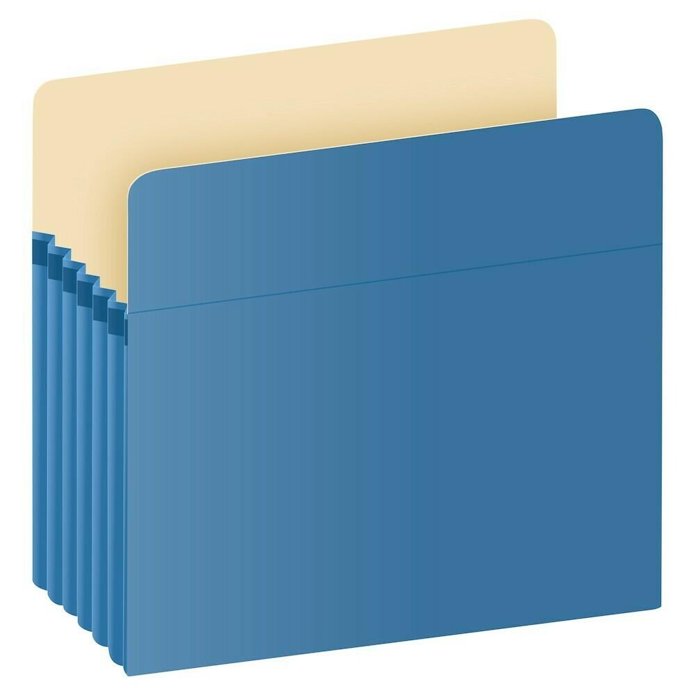 "Pendaflex / Color File Pockets, Letter Size, Blue, 5.25"" Expansion, 10/BX"