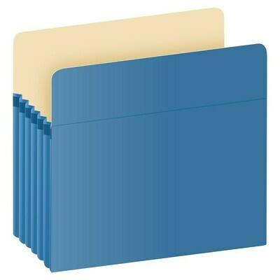 Pendaflex / Color File Pockets, Letter Size, Blue, 5.25